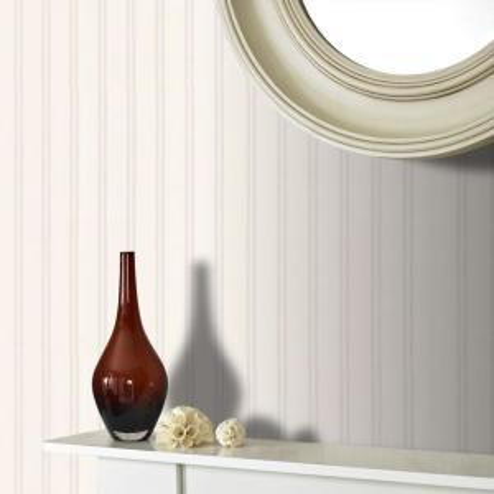 Graham & Brown-White Beadboard Paintable Wallpaper