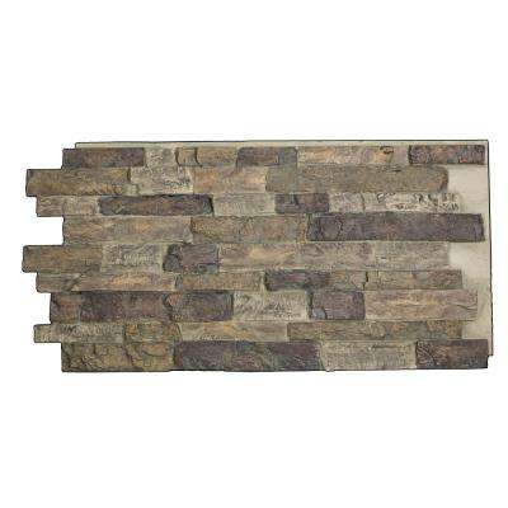Snodonia Faux Stone Panel 1-1/4 in. x 48 in. x 24 in. Misty Gray Polyurethane Interlocking Panel
