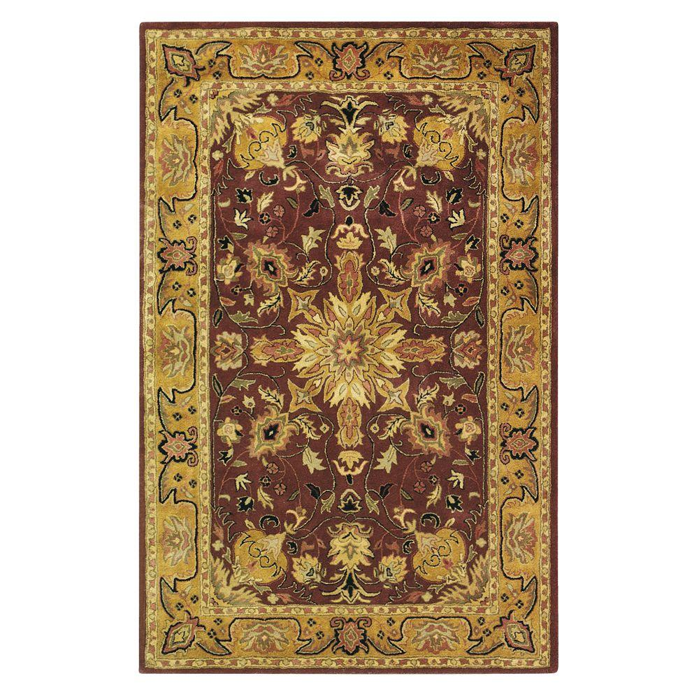 Home Decorators Collection Chamberlain Burgundy 2 ft. x 3 ft. Area Rug
