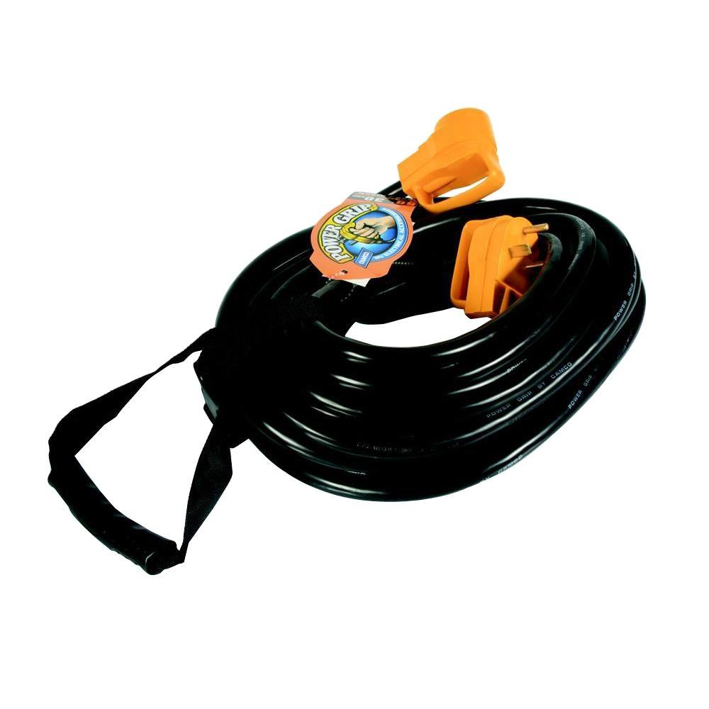 Camco 30 Amp 50 Ft Power Grip Extension Cord 55197 The Home Depot