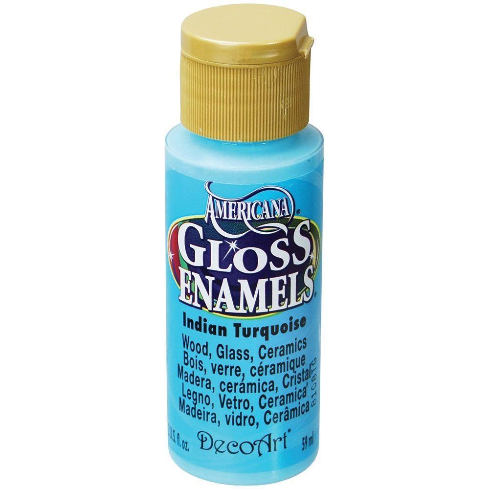 2 oz. Indian Turquoise Gloss Enamel Paint