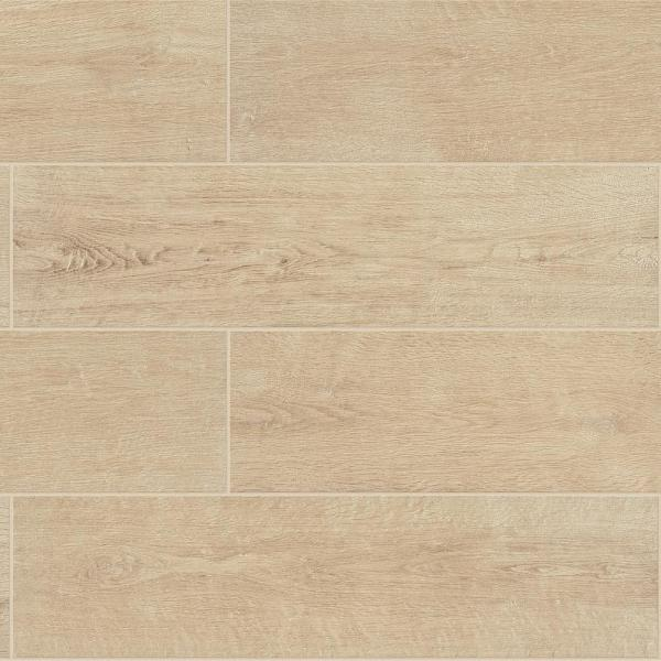 Meadow Wood Fawn 6 in. x 24 in. Glazed Porcelain Floor and Wall Tile (15 sq. ft. / case)