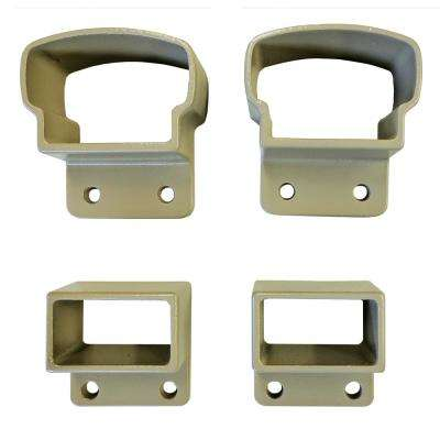 2.75 in. Top and Bottom Desert Tan Aluminum Post Mount Kit