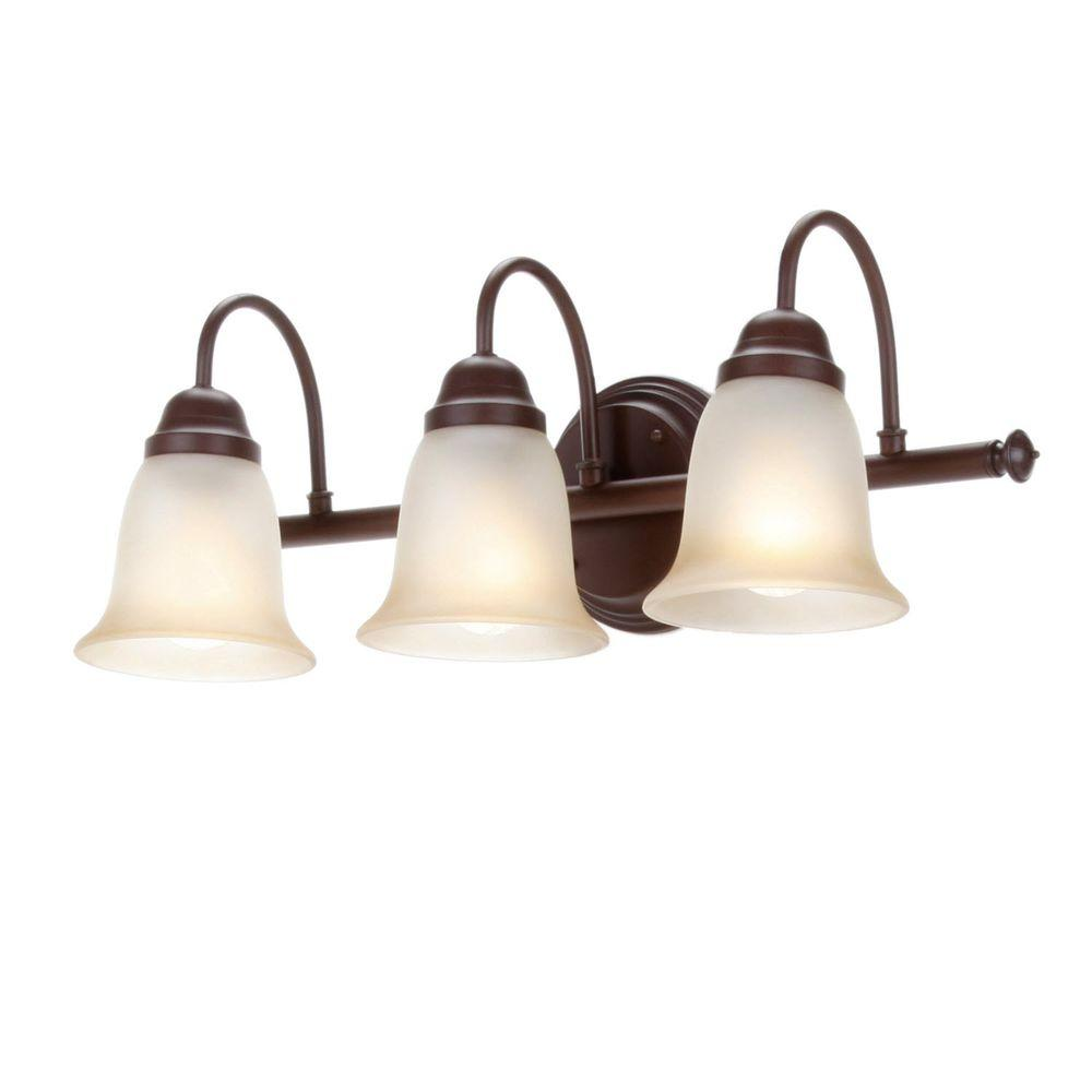 Commercial Electric 3-Light Nutmeg Vanity Sconce