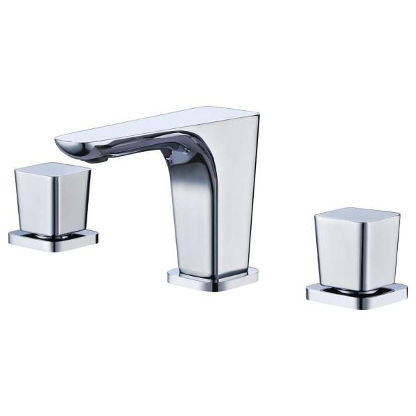 AB1782-PC 8 in. Widespread 2-Handle Luxury Bathroom Faucet in Polished Chrome