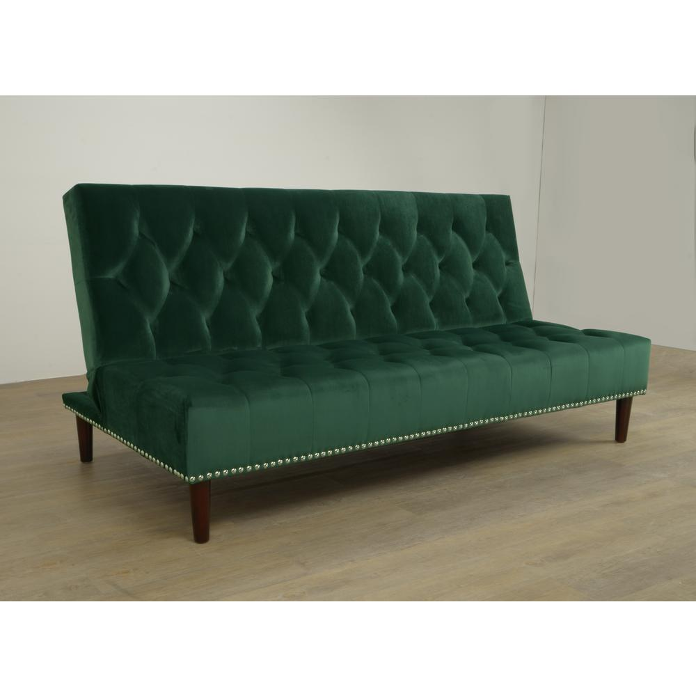Dark Green Convertible Sofa Bed Futon