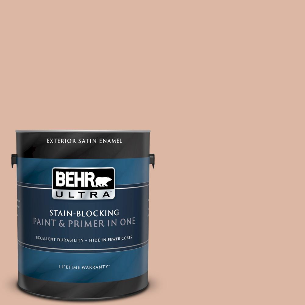 Behr Ultra 1 Gal Ecc 60 1 Coral Bay Satin Enamel Exterior Paint And Primer In One 985001 The Home Depot