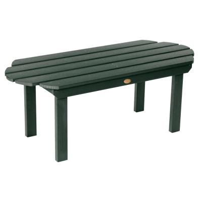 Classic Westport Charleston Green Rectangular Recycled Plastic Outdoor Coffee Table