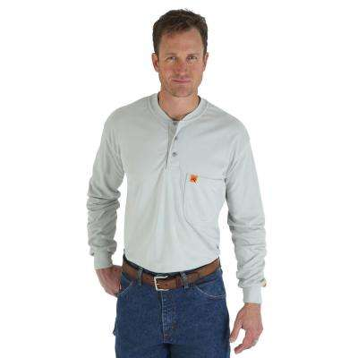 Men's Size Extra-Large Grey Henley