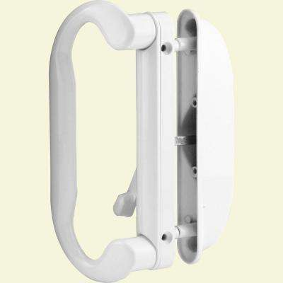 White Latch Sliding Door Handle Set