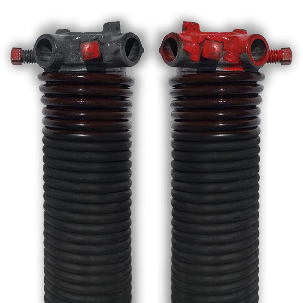 DURA-LIFT 0.234 in. Wire x 1.75 in. D x 33 in. L Torsion Springs in Brown Left and Right Wound Pair for Sectional Garage Doors