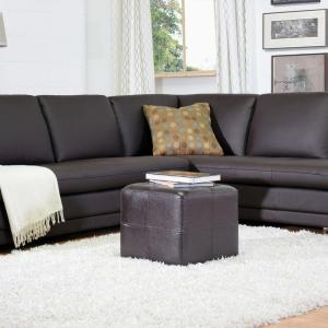 Baxton Studio Nox Dark Brown Accent Ottoman by Baxton Studio