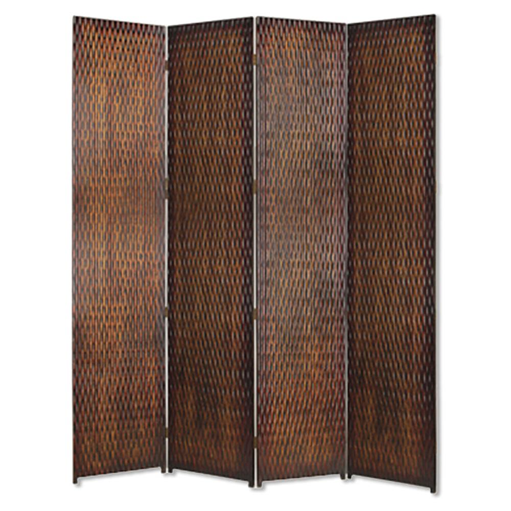 DANYL 7 ft Brown 4 Panel Room Divider SG 84A The Home Depot