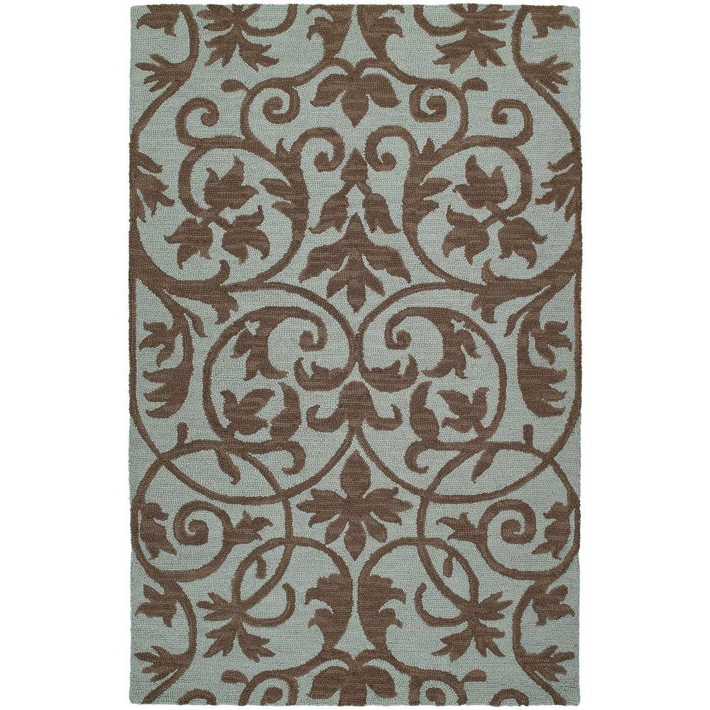 Kaleen Carriage Trellis Spa 8 ft x 10 ft Area Rug 6101 56 8x10