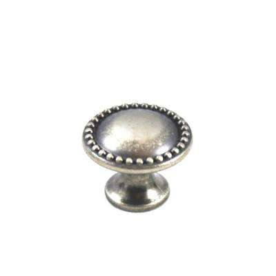 Louis XVI 0.98 in. Diameter Old Iron Round Knob