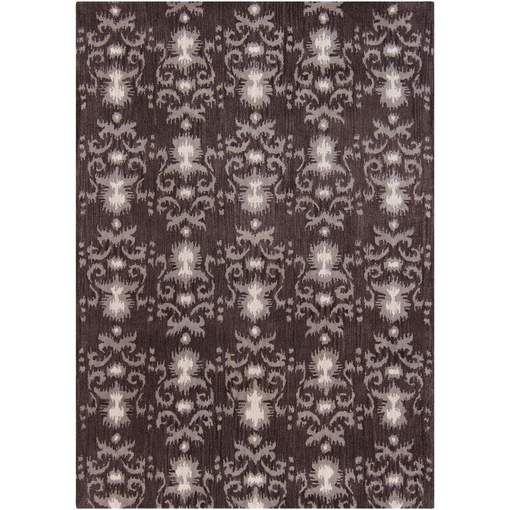 Chandra Stella Patterned Contemporary Wool Beige Aqua Area: Chandra Lina Brown/Grey/Ivory 5 Ft. X 7 Ft. Indoor Area