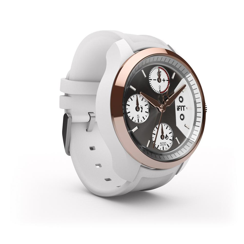 iFit Classic White Fitness Watch A luxury twist on the traditional fitness tracker. The Classic will keep you moving in style. The three fitness subdials discreetly keep you in line with your activity and calorie goals, while gentle vibrations remind you to get up and move.