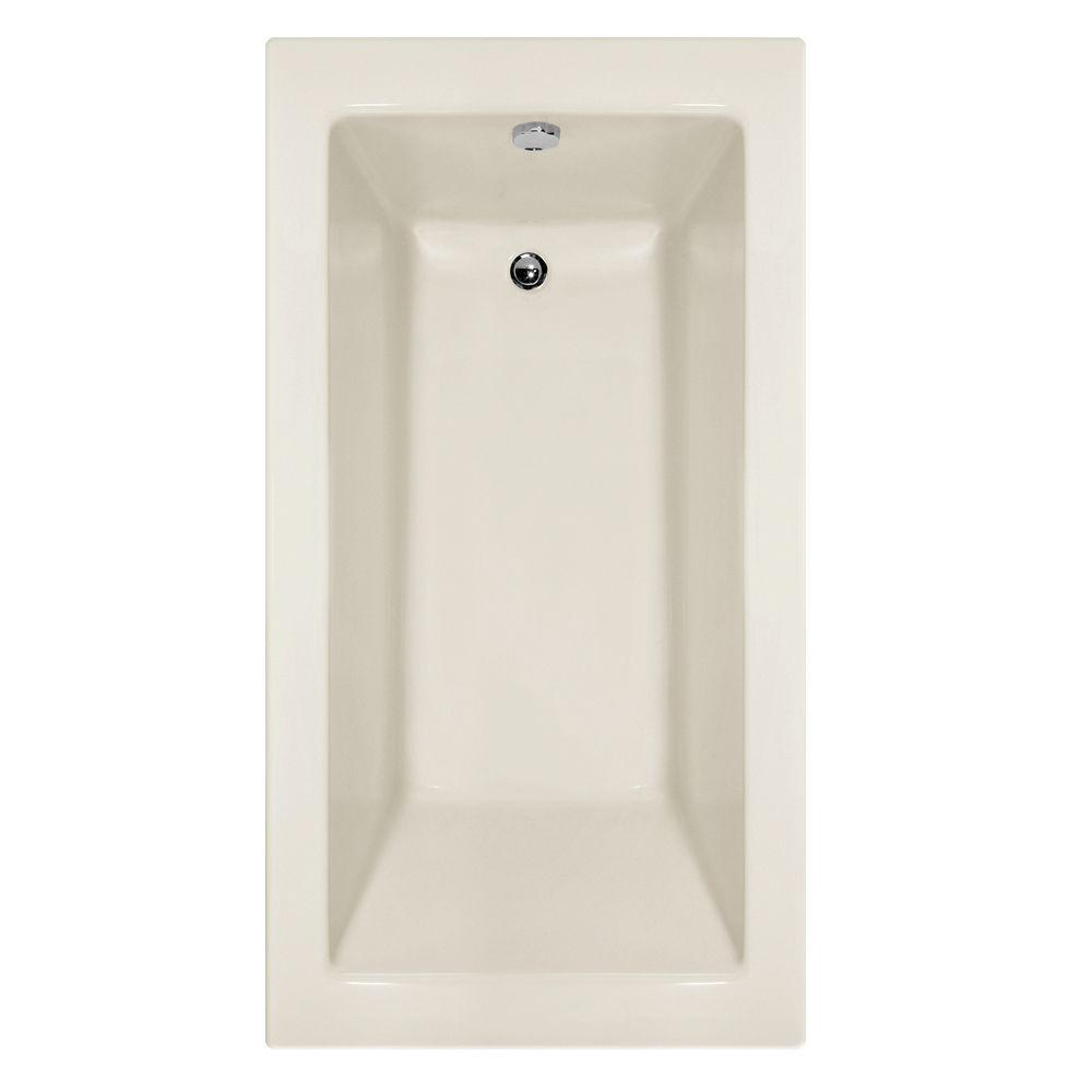 Studio Lacey 5 ft. Shallow Depth Reversible Drain Soaking Tub in