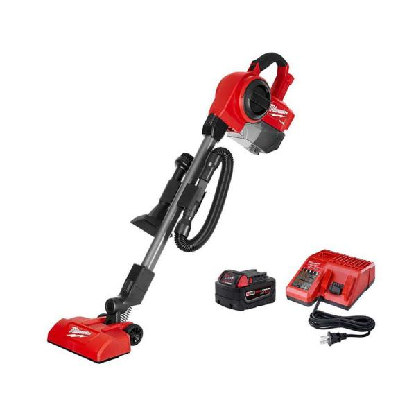 M18 FUEL 18-Volt Lithium-Ion Brushless .25 Gal. Cordless Jobsite Vacuum with 5.0 Ah Battery and Charger