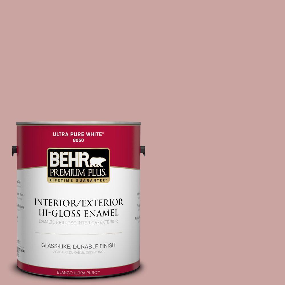 BEHR Premium Plus 1-gal. #160E-3 Rose Potpourri Hi-Gloss Enamel Interior/Exterior Paint