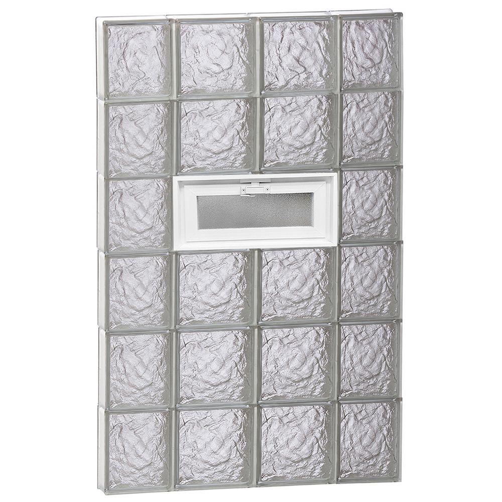 Clearly Secure 27 in. x 46.5 in. x 3.125 in. Frameless Ice Pattern ...