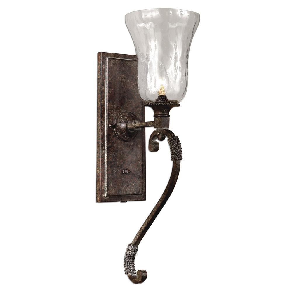Galena 1-Light Bronze Sconce