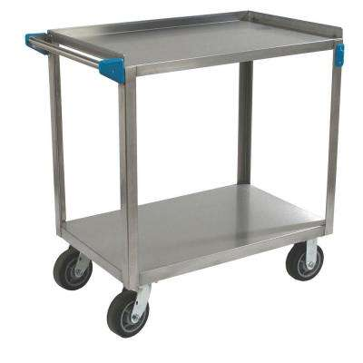 21 in. x 33 in. 700 lb. Capacity 2-Shelf Stainless Steel Utility Cart