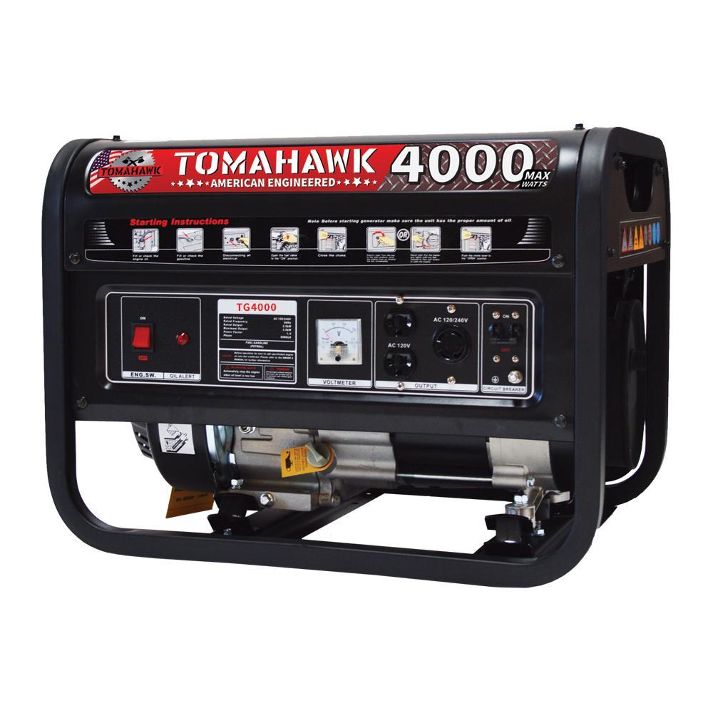4000-Watt Gas Powered Recoil Start Portable Generator with 7 HP Engine
