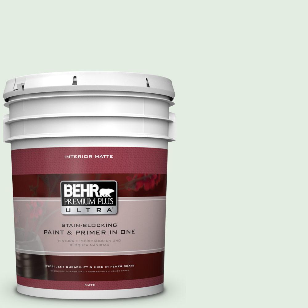 BEHR Premium Plus Ultra 5 gal. #460C-2 Spearmint Stick Flat/Matte Interior Paint