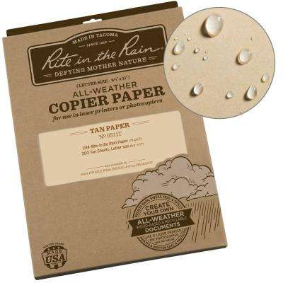 All-Weather 8-1/2 in. x 11 in. 20 lbs. Copier Paper, Tan (200-Sheet Pack)