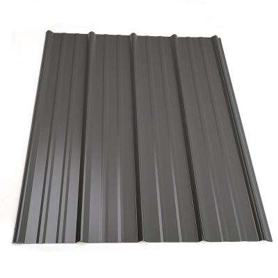 14 ft. Classic Rib Steel Roof Panel in Charcoal