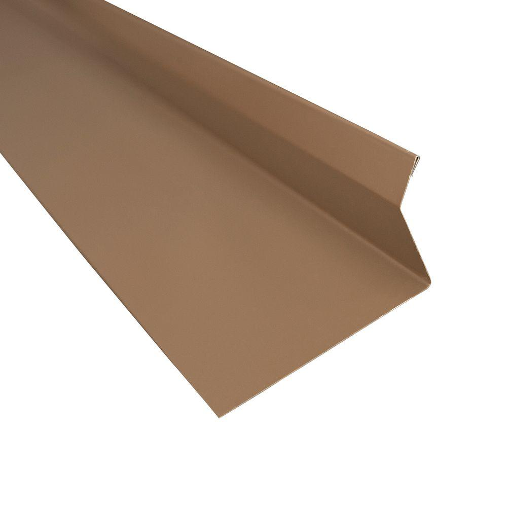 Metal Sales 4 25 in  x 10 5 ft  Drip Edge Flashing Cap in Burnished Slate