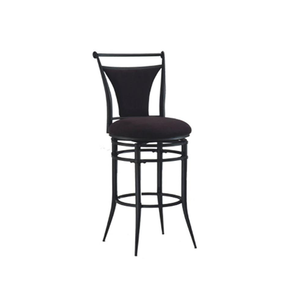Hillsdale Furniture Cierra 30 In Black Swivel Bar Stool