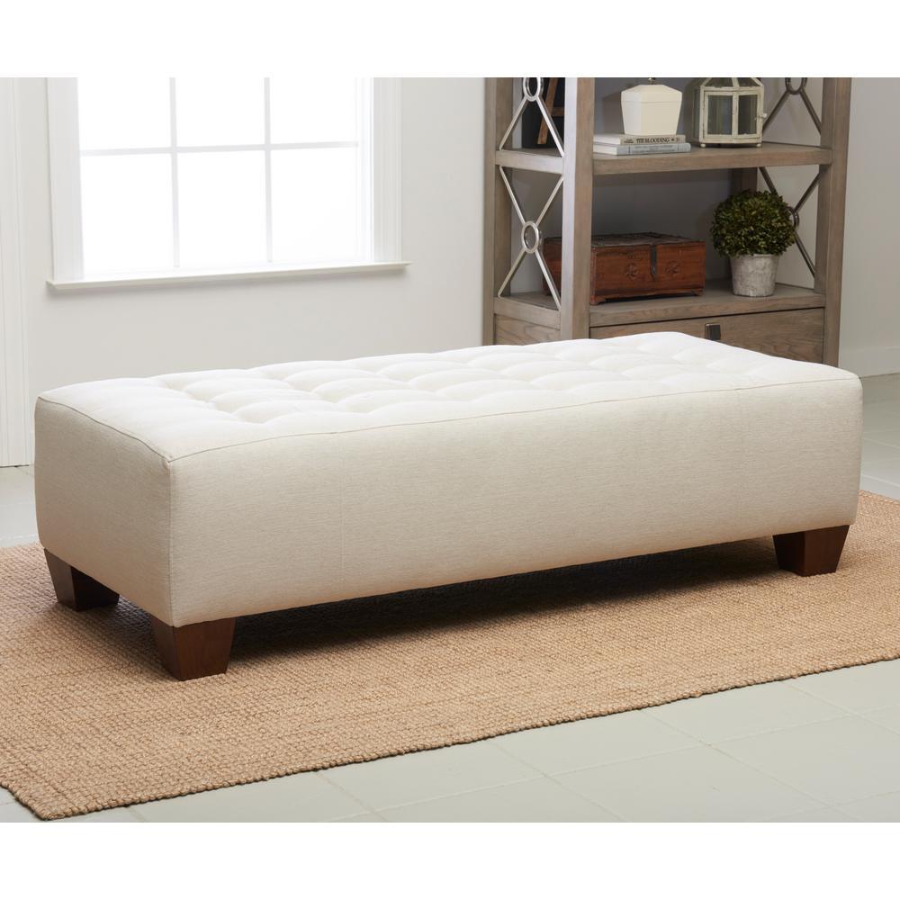 Klaussner Furniture Wayne Manor Beige Ottoman 460ottocmaxbuff The