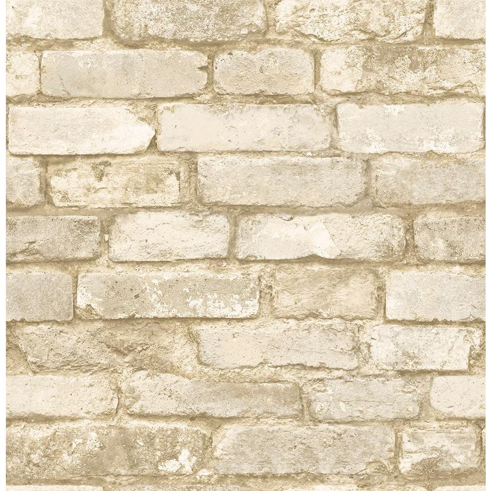 Chesapeake Oxford White Brick Texture Wallpaper Sample