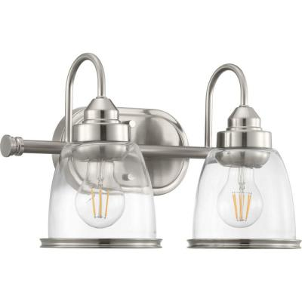 Saluda Collection 2-Brushed Nickel Bath Light