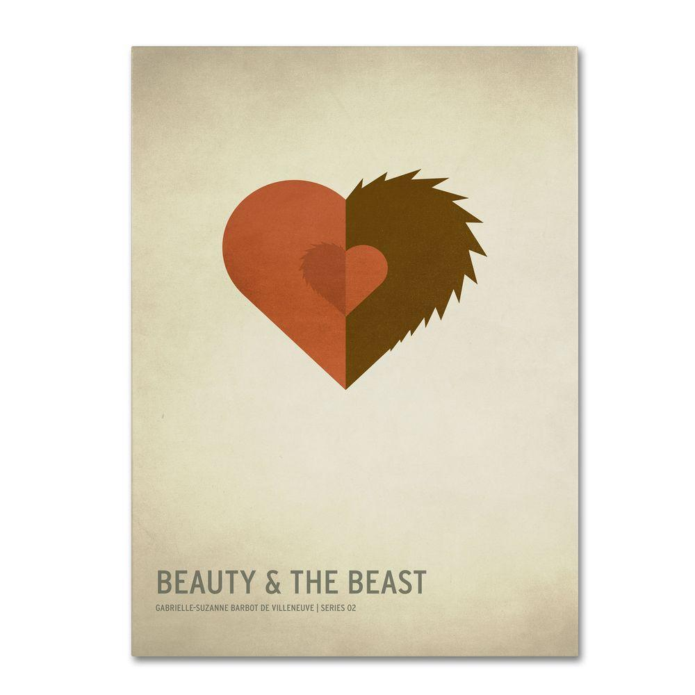 Trademark Fine Art 16 in. x 24 in. Beauty and the Beast Canvas Art