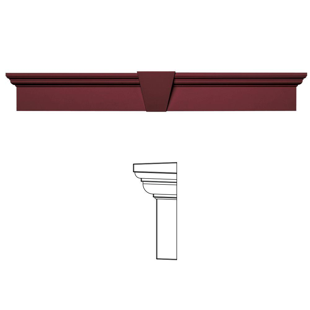 Builders Edge 6 in. x 43-5/8 in. Flat Panel Window Header with Keystone in 078 Wineberry