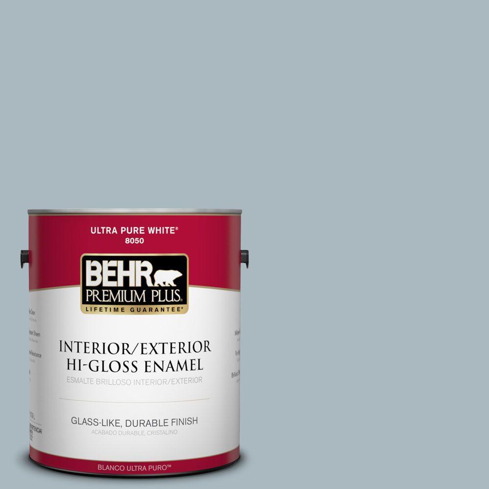 BEHR Premium Plus 1-gal. #740E-3 Prelude Hi-Gloss Enamel Interior/Exterior Paint