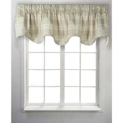 Bartlett 17 in. L Cotton Lined Scallop Valance in Natural