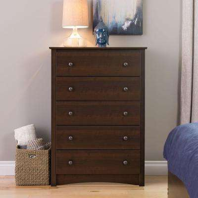 Fremont 5-Drawer Espresso Chest