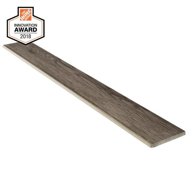 Sierra Wood 3 in. x 24 in. Glazed Porcelain Bullnose Floor and Wall Tile (0.48 sq. ft. / piece)