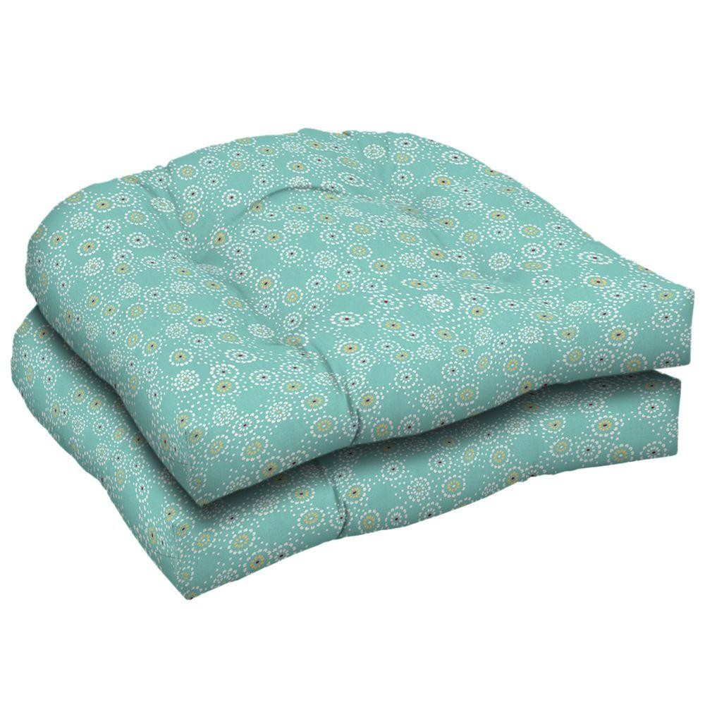 Arden Beachside Malika Pool Wicker Tufted Seat Pad (Pack Of 2)-DISCONTINUED