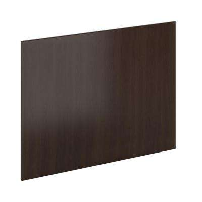 48 in. x 34.5 in. x 0.75 in. Island End Panel in Espresso