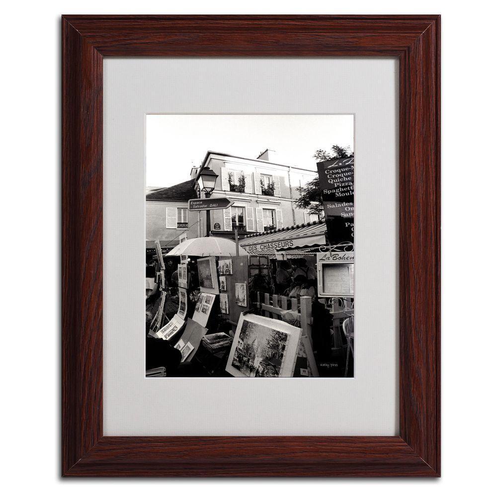 11 in. x 14 in. Montmartre Matted Framed Art