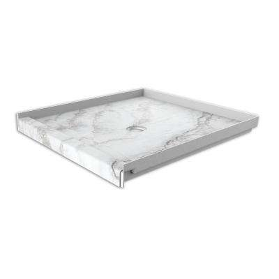 36 in. x 36 in. Single Threshold Shower Base with Center Drain in Calypso