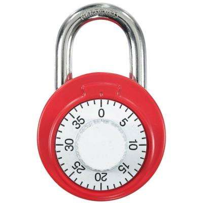 Dial Combination Lock Assorted Colors