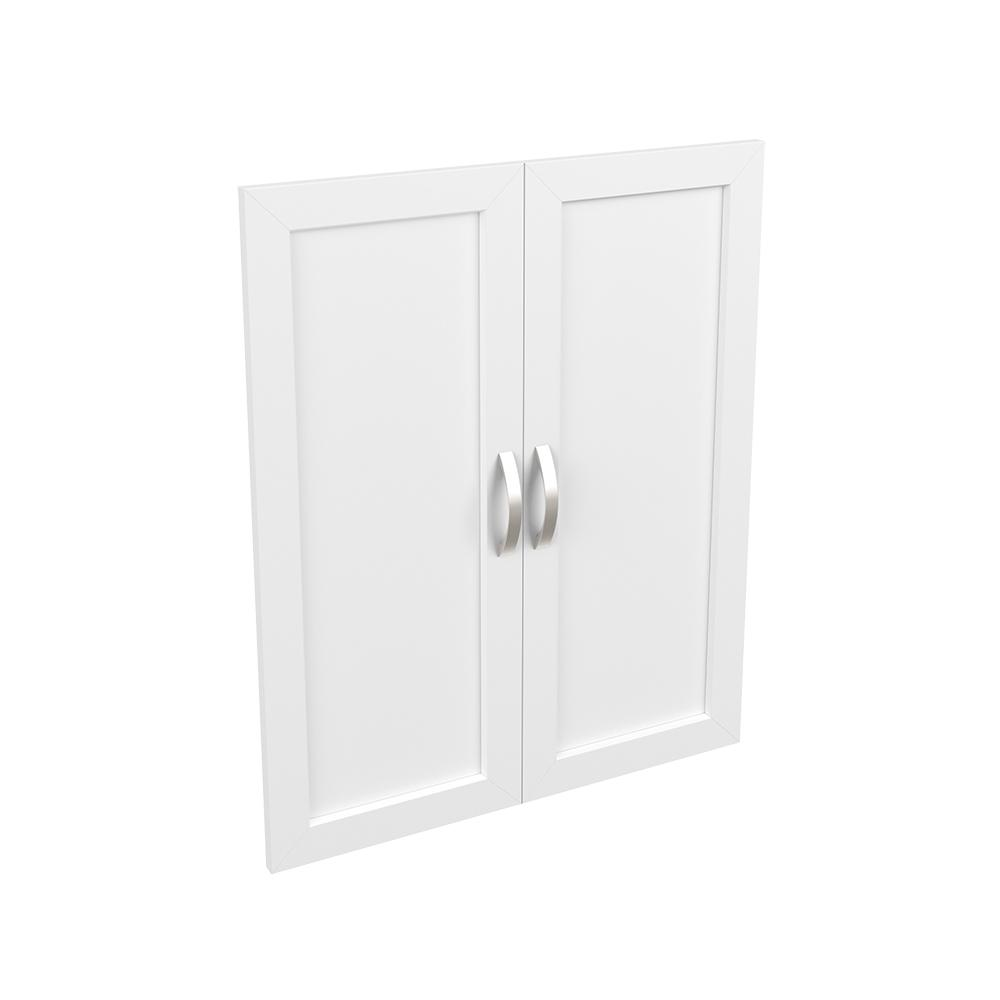 ClosetMaid Style+ 0.63 in. D x 24.65 in. W x 30.12 in. H White Melamine Shaker Door Kit Closet System