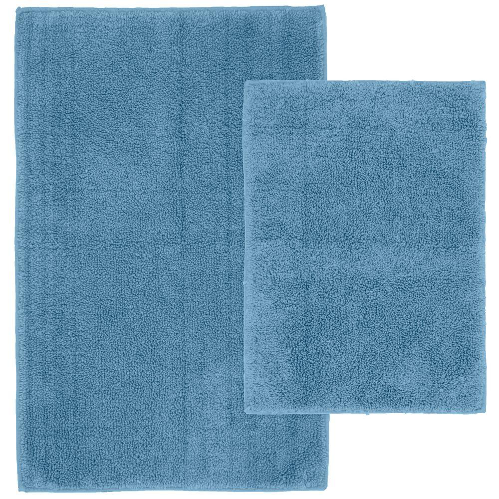 Garland Rug Queen Cotton Sky Blue 21 In X 34 Washable Bathroom 2