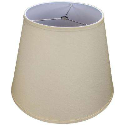 11 in. Top Diameter x 17 in. Bottom Diameter x 13 in. Slant Designer Chintz Tan Empire Lamp Shade